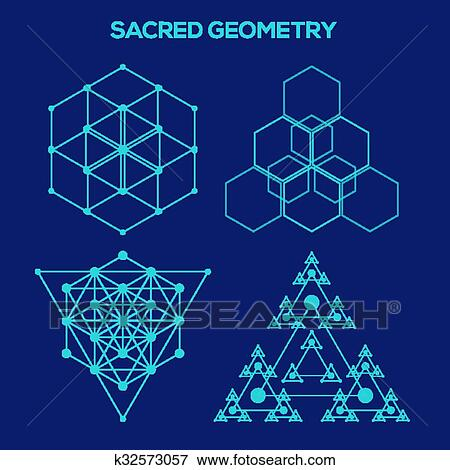 Clip Art Of Sacred Geometry Hipster Symbols And Elements Abstract Best Sacred Geometry Patterns
