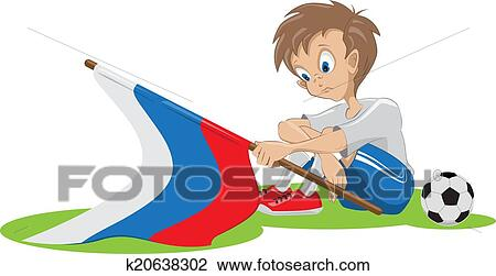 Traurig Russland Fussballfan Clipart