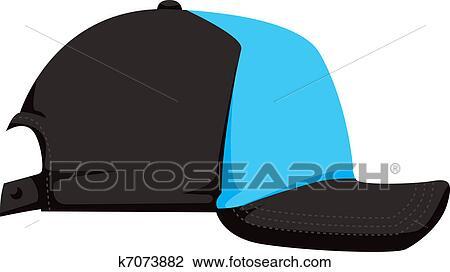 野球帽 ベクトル イラスト クリップアート切り張りイラスト絵画