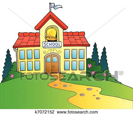 clipart of big school building k7072152 search clip art rh fotosearch com  free clipart school building