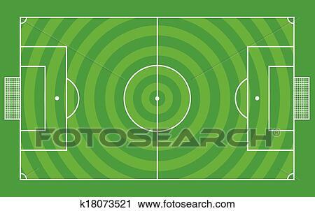 Fussball Feld Oder Football Feld Clipart K18073521