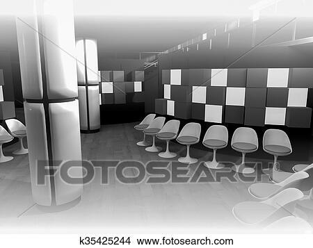 Sala de trabajo de una empresa en dibujos casa dise o - Sillas sala de espera ikea ...