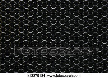 Disegni nero ferro esagonale texture. industriale fondo