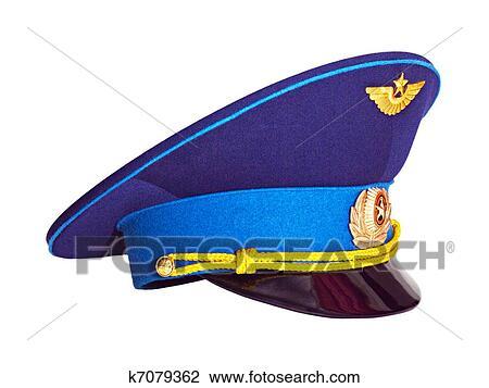 c40154fcc Russian military pilot's cap Stock Image