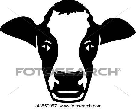 Clipart Tete Vache Vrai K43550097 Recherchez Des Cliparts Des