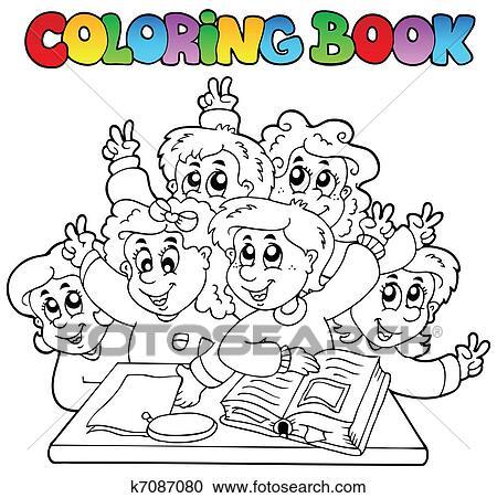 Clipart Ausmalbilder Schule Karikaturen 3 K7087080 Suche Clip