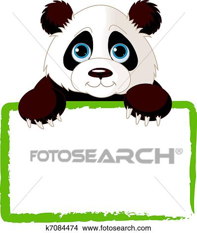 clipart of cute panda card k7084474 search clip art illustration rh fotosearch com cute panda clipart images cute panda face clipart