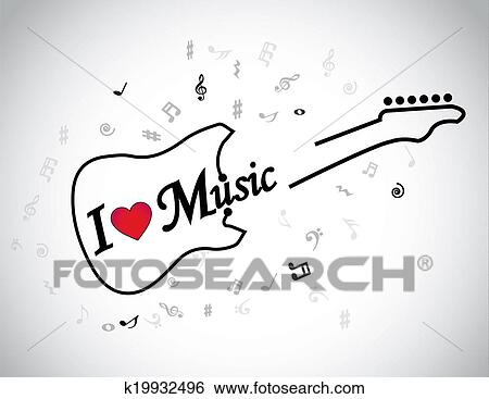 Music Note Heart Drawing
