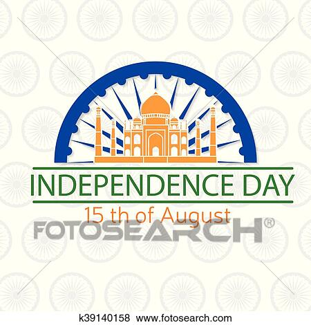 Clip art of indian independence day greeting card poster flyer indian independence day greeting card poster flyer patriotic banner for website template 15th august typographic design vector illustration m4hsunfo