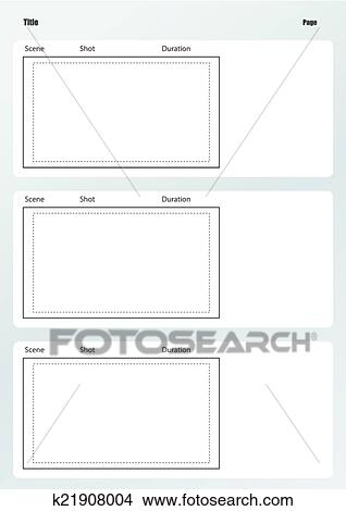 Clipart of Professional of film storyboard template vertical ...