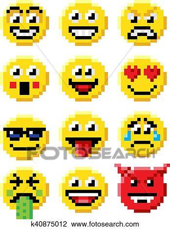 العنصورة طريقة Emoji Emoticon أجبر العظم Clipart