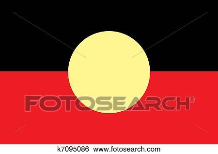 Aboriginal Flag Clip Art K7095086 Fotosearch