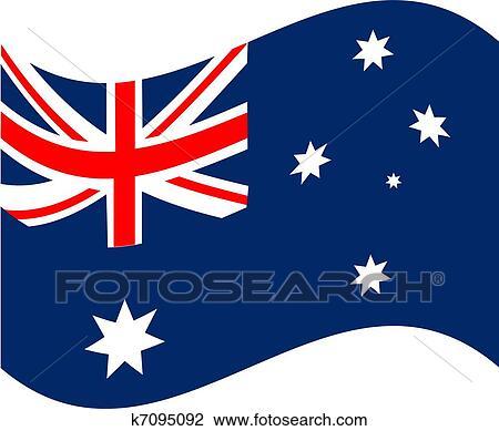 clipart of australia flag k7095092 search clip art illustration rh fotosearch com australia clip art for kids australian clip art