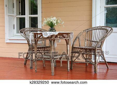 Cane Furniture Stock Image K28329250