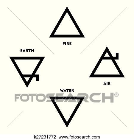 Clipart Of Classical Alchemy Element Symbols K27231772 Search Clip