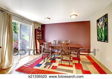 Banco de Fotografías - contraste, pared, comedor, interior k21336520 ...