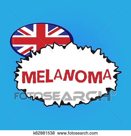 Writing note showing Melanoma  Business photo showcasing A malignant tumor  associated with skin cancer Benign moles Stock Illustration