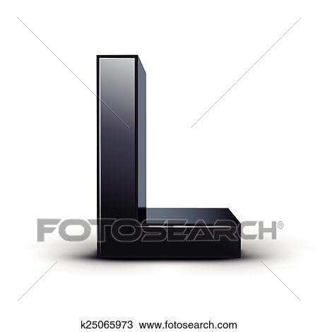 Clipart Of 3d Black Letter L K25065973 Search Clip Art