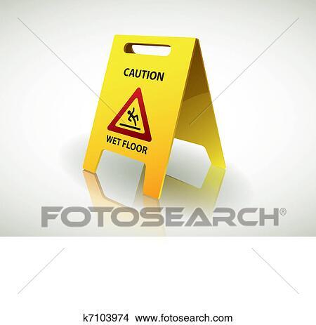 Clipart - attenzione, -, pavimento bagnato, segno k7103974 - Cerca ...