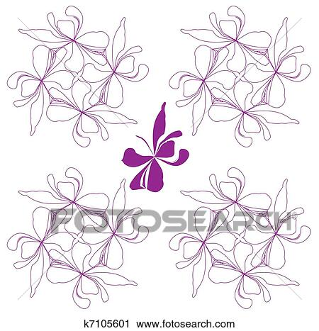Beautiful Nature Decoration Floral Background Clipart