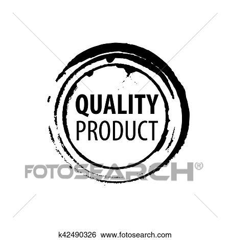 Clip Art Of Best Quality Stamp K42490326