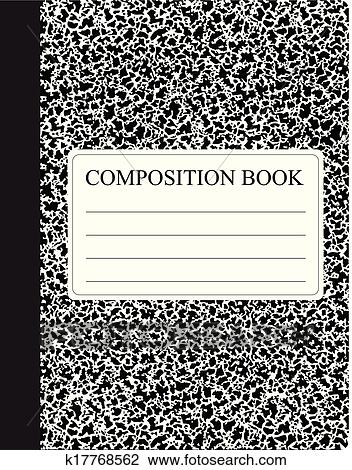 Good Clipart   Black Composition Book. Fotosearch   Search Clip Art,  Illustration Murals, Drawings