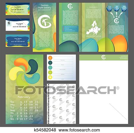 Brochure design, business flyer size A4 template, creative leaflet, design  template set  Modern vector front page  Clip Art