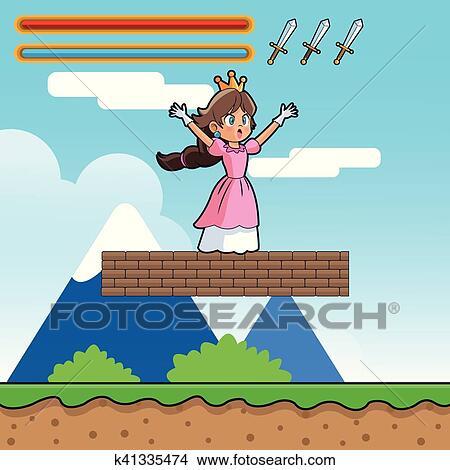 Princesa E Videogame Desenho Clipart K41335474 Fotosearch