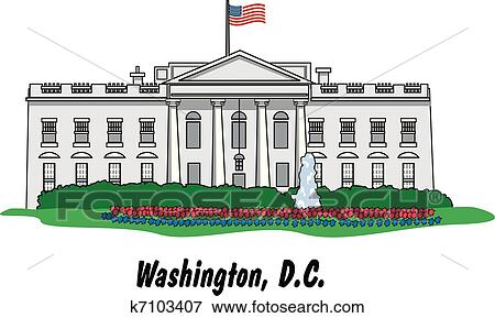 clip art of the white house in washington d c k7103407 search