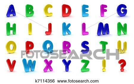 Stock Illustration Of Fridge Magnet Alphabet K7114356 Search Clip
