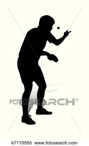 Clipart of Table Tennis Player_2 k7115555 - Search Clip Art ...