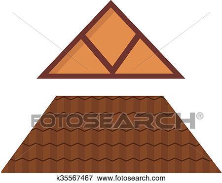 Clipart  Triangulaire Mtal Maison Toit Dessin Anim