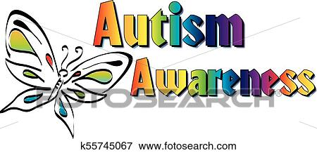 clip art of autism awareness banner k55745067 search clipart rh fotosearch com autism awareness month clipart autism awareness month clipart