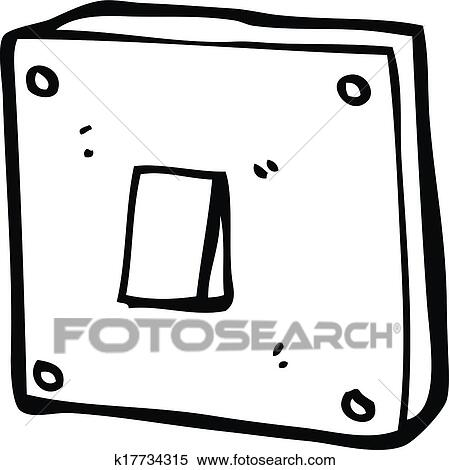 Clipart Of Cartoon Light Switch K17734315 Search Clip Art