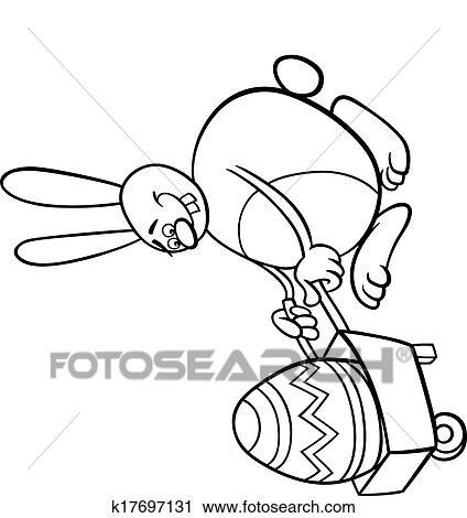 Clipart - conejito, y, huevo de pascua, colorido, página k17697131 ...