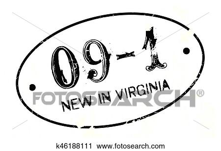 Clipart Of New In Virginia Rubber Stamp K46188111
