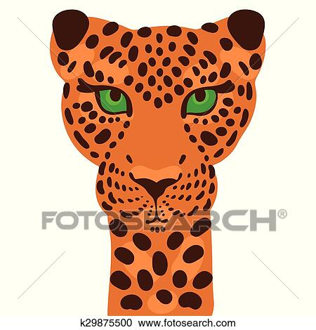 clipart of print leopard k29875500 search clip art illustration rh fotosearch com Black and White Leopard Print leopard print background clipart