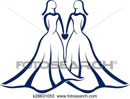 clipart of same sex marriage logo k28631053 search clip art rh fotosearch com marriage clip art christian marriage clipart images