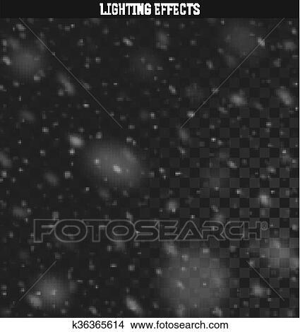 clipart schnee realistisch effect fallender schnee