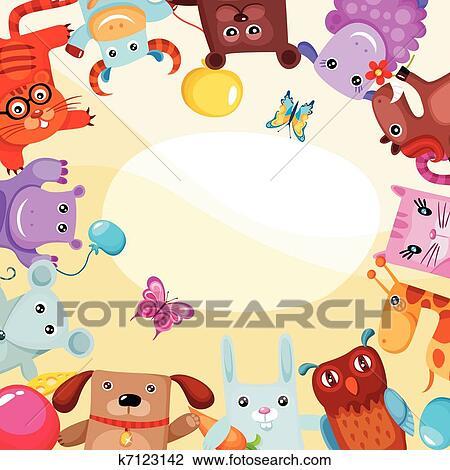 Clipart Verjaardag Kaart K7123142 Zoek Clipart Illustratie