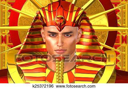 エジプト人, ファラオ, デジタルの芸術 イラスト   k25372196   Fotosearch