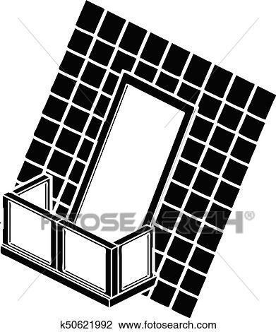 Balcony Clipart Black And White