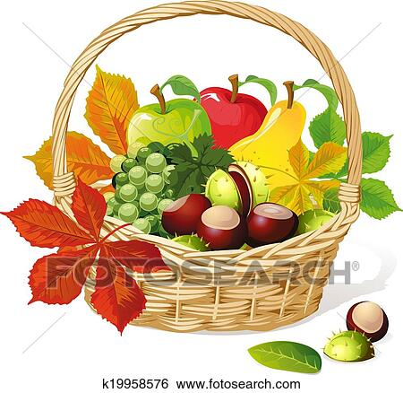 Clip art cesto con autunno frutta k19958576 cerca for Clipart frutta