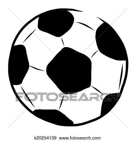 Hand Gezeichnet Fussball Ball Stock Illustration