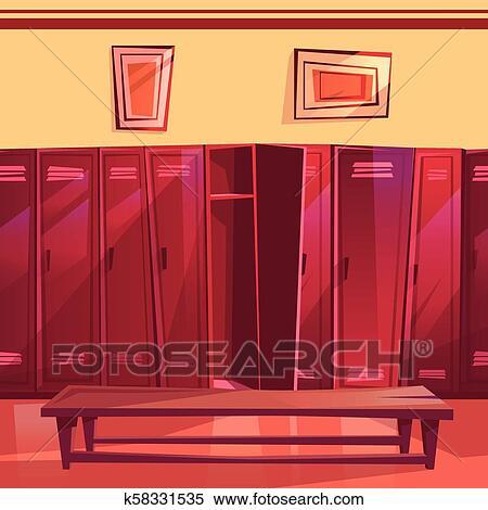 Locker room gym seamless vector illustration clipart k