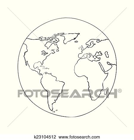 Clipart of sketch globe world map black vector illustration clipart sketch globe world map black vector illustration fotosearch search clip art gumiabroncs Gallery