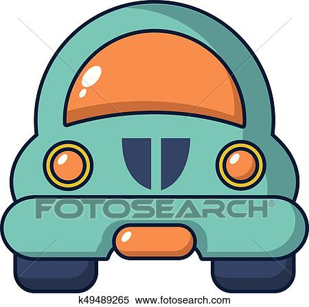 Clipart Of Toy Car Icon Cartoon Style K49489265 Search Clip Art