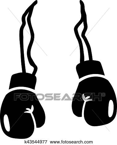 clip art of boxing gloves k43544977 search clipart illustration rh fotosearch com boxing glove clipart outline clipart boxing gloves