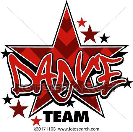 clipart of dance team k30171103 search clip art illustration rh fotosearch com dance team clip art free Dance Clip Art