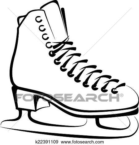clip art of ice skate k22391109 search clipart illustration rh fotosearch com